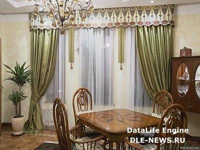 Элементы текстильного дизайна в оформлении потолка