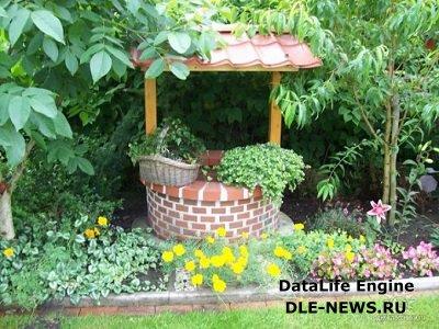 Колодец в саду как элемент национального русского колорита