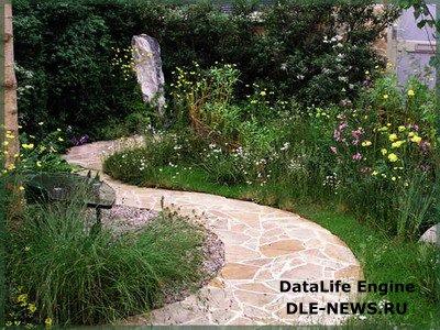 Мозаичное мощение в оформлении садового ландшафта