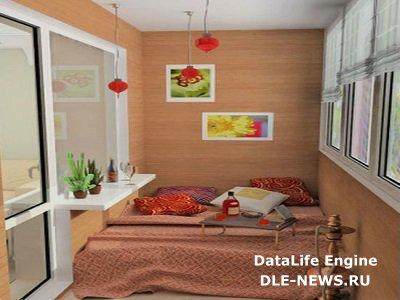 Обустраиваем комфортное спальное место на балконе