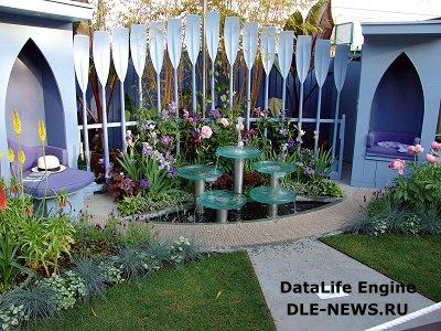 Открытый кинозал на садовом участке