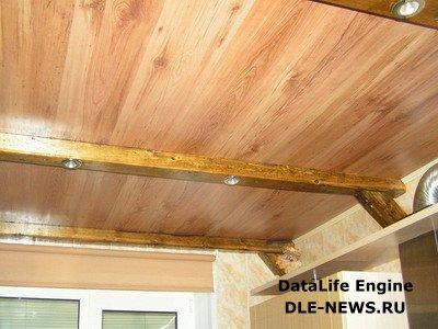 Правила монтажа деревянного потолка