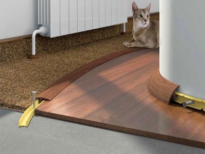 Профессиональный стык на полу: как замаскировать шов