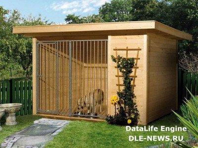 Размещение собачьей будки на загородном участке