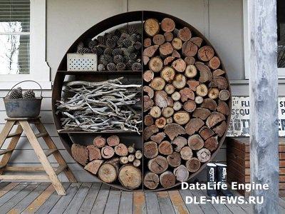 Стильное хранилище для дров