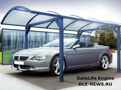 Строим гараж из поликарбоната
