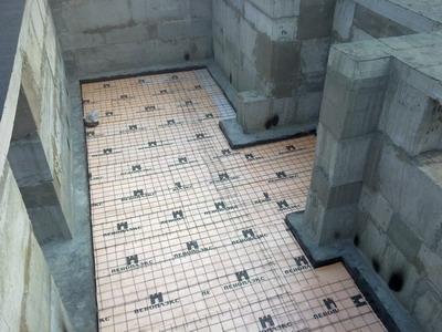 Устройство теплого пола в подвальном помещении