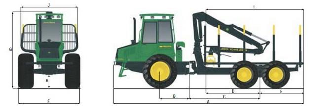 Технические характеристики Timberjack 1010D
