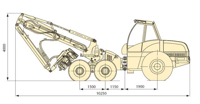 Технические характеристики харвестера Амкодор 2551