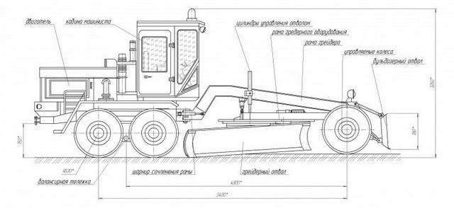 Схема автогрейдера дз 98 фото 100