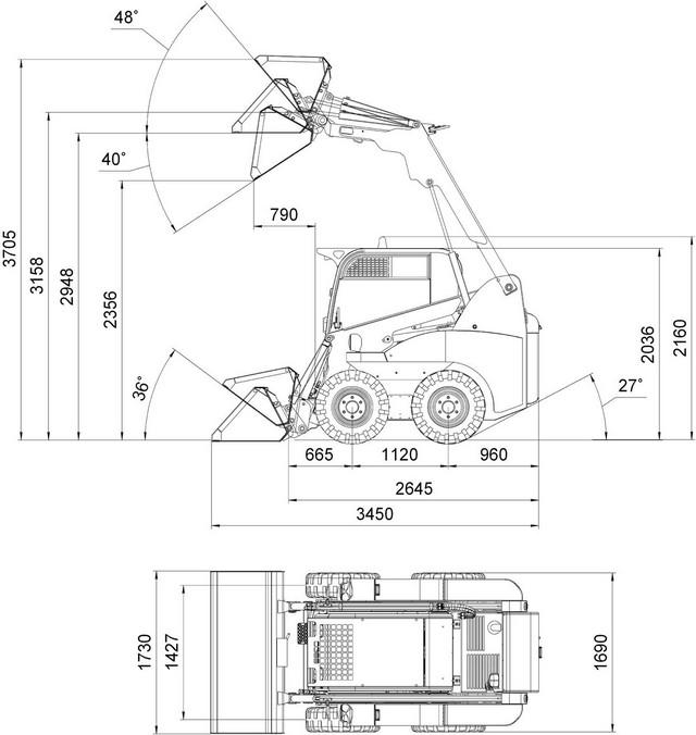 Габаритные размеры МКСМ-800