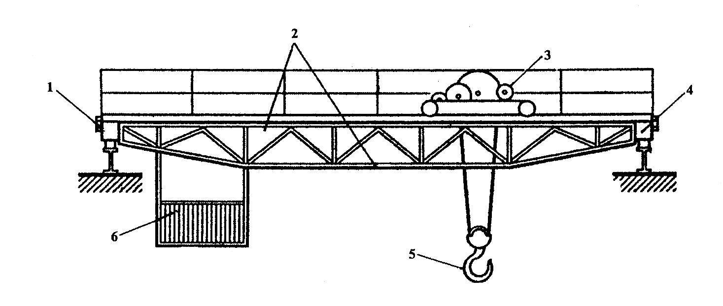Схема двухбалочного мостового крана