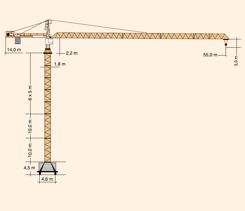 Схема башенного крана Liebherr-132EC-H8
