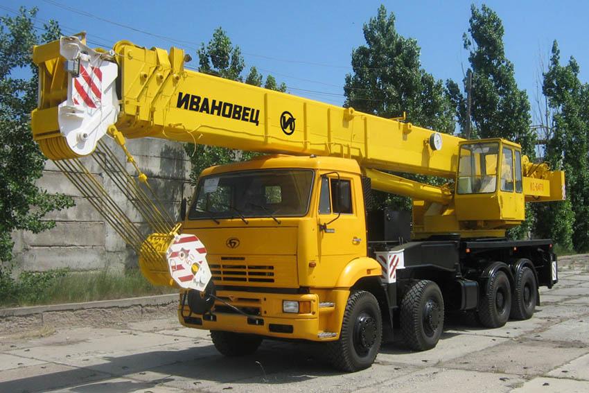 Автокран 50 тонн Ивановец