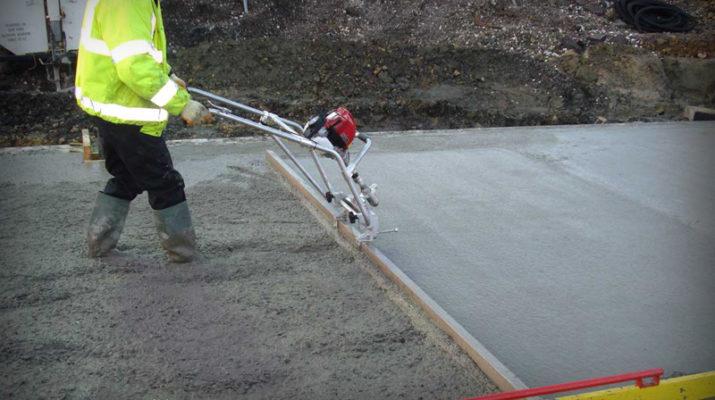Виброрейка для укладки бетона как пользоваться