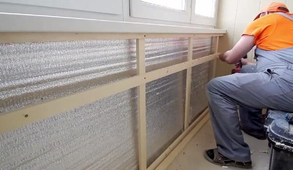 Утепление балкона лоджии своими руками