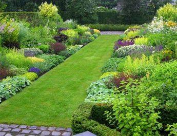 Рулонный газон в саду