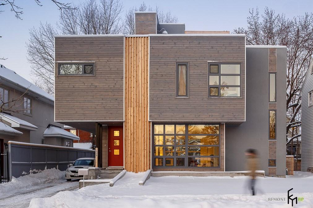 Минимализм в оформлении фасадов