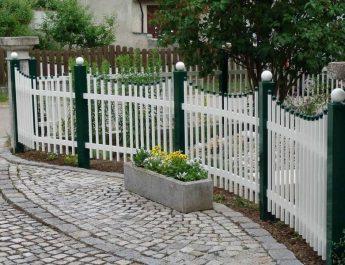 Как красить металлическую изгородь