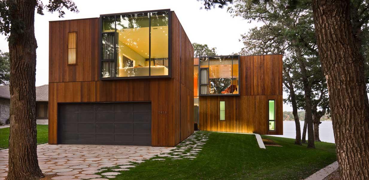 Облицовка фасада в стиле минимализм